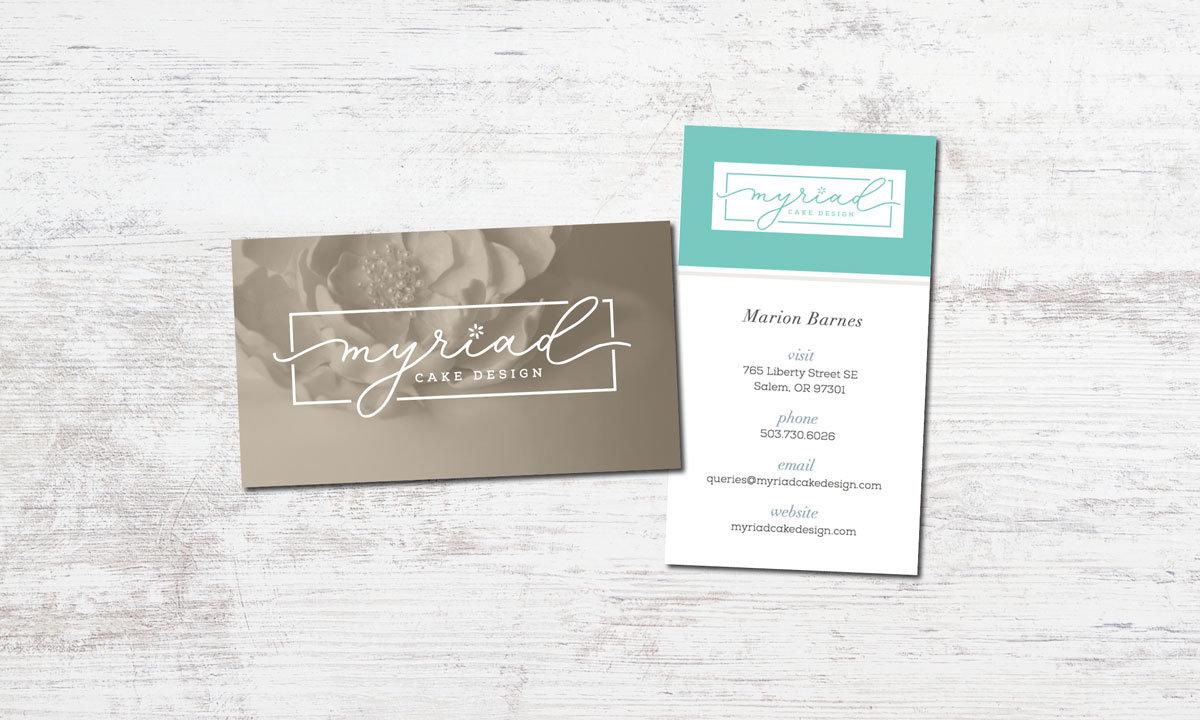Myriad Cake Design Business Card • 237 Marketing + Web