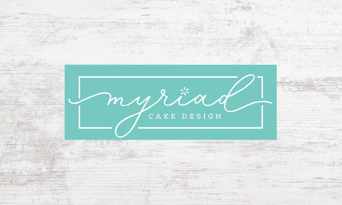 Myriad Cake Design Logo • 237 Marketing + Web