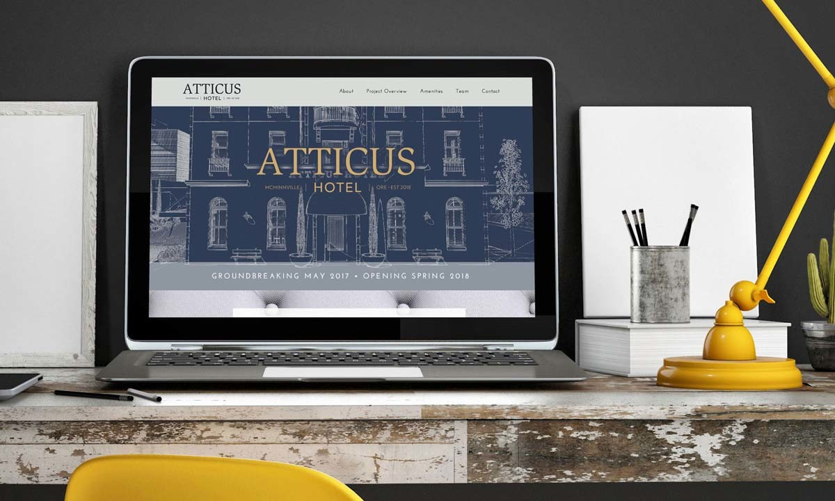 Atticus Hotel WordPress Website Splash Page • 237 Marketing + Web