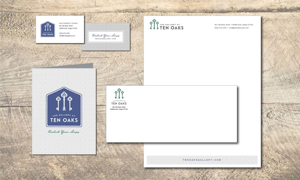 The Gallery at Ten Oaks Letterhead and Business Cards • 237 Marketing + Web