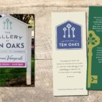 The Gallery at Ten Oaks Sign and Rack Card • 237 Marketing + Web