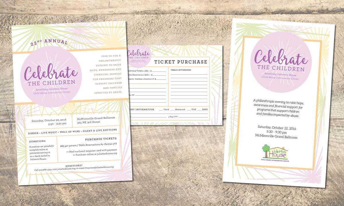 Juliette's House Celebrate the Children Event Promotions • 237 Marketing + Web