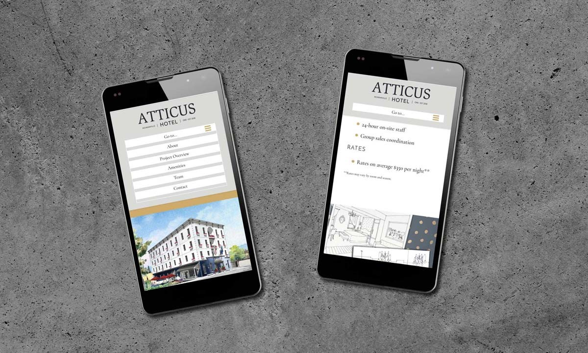 Atticus Hotel WordPress Website • 237 Marketing + Web