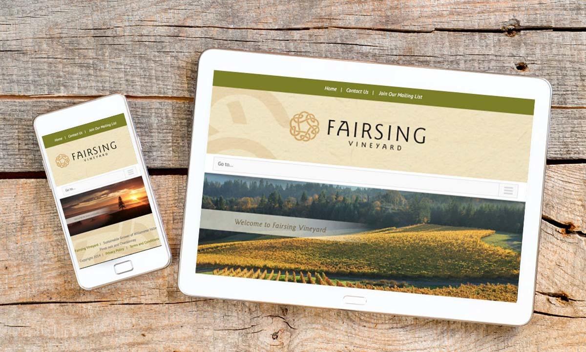 Fairsing Vineyards WordPress Website • 237 Marketing + Web