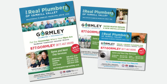 Gormley Plumbing + Mechanical Advertising • 237 Marketing + Web