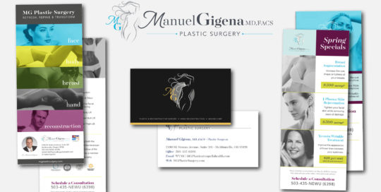MG Plastic Surgery Logo and Collateral Materials • 237 Marketing + Web
