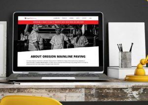 Oregon Mainline Paving WordPress Website • 237 Marketing + Web