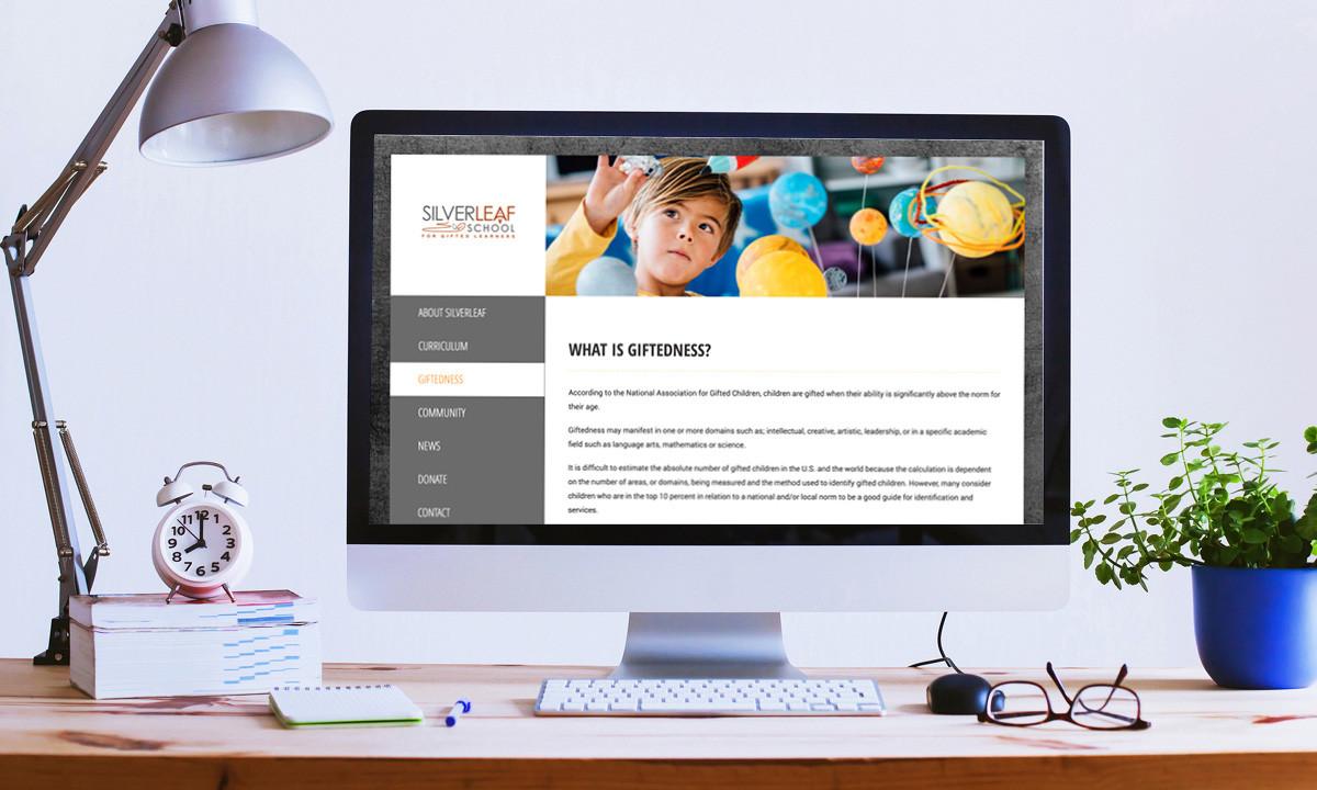 Silverleaf School for Gifted Learners WordPress Website • 237 Marketing + Web
