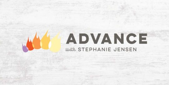 Advance with Stephanie Jensen Logo • 237 Marketing +Web