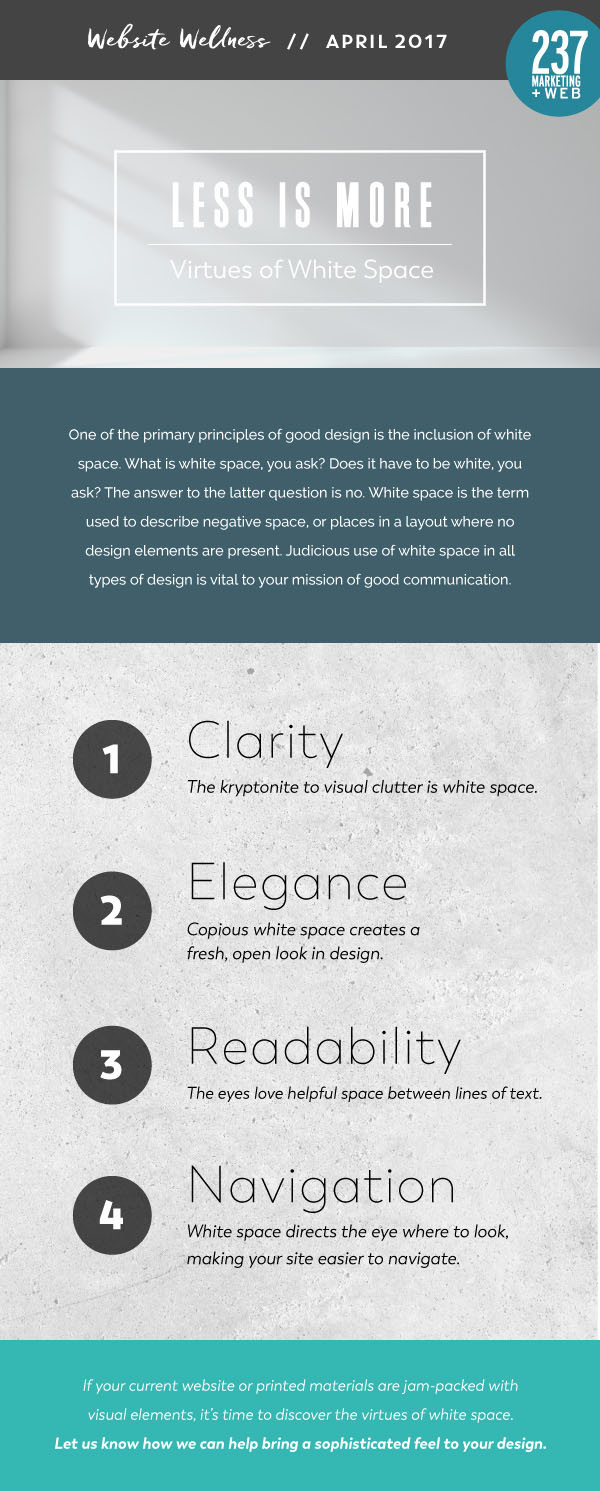 White Space - Website Wellness • 237 Marketing + Web