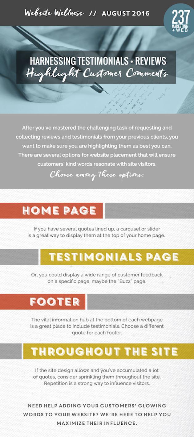 Reviews - Highlight Comments - Website Wellness • 237 Marketing + Web