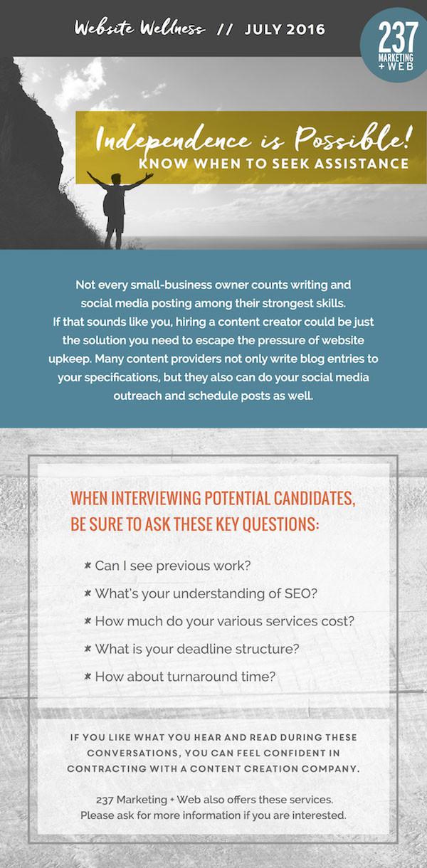 Know When to Seek Assistance - Website Wellness • 237 Marketing + Web