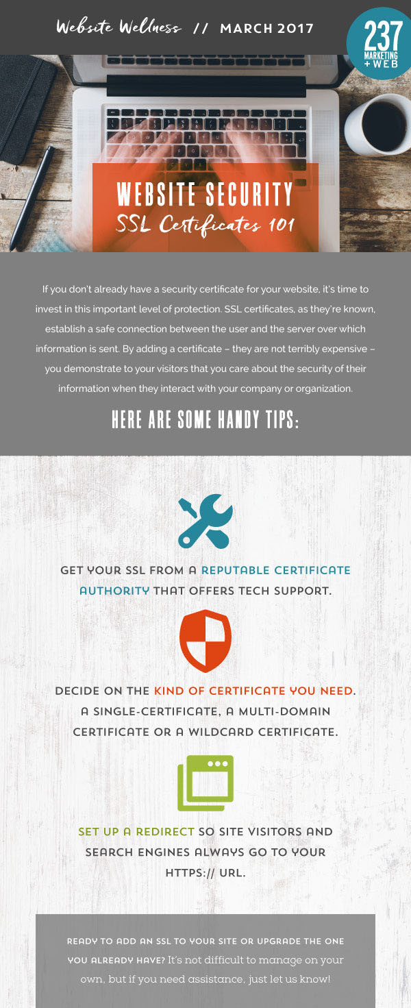 SSL Certificate 101 - Website Wellness • 237 Marketing + Web