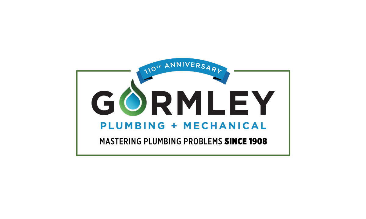 Gormley Plumbing + Mechanical 110th Anniversary Logo by 237 Marketing + Web