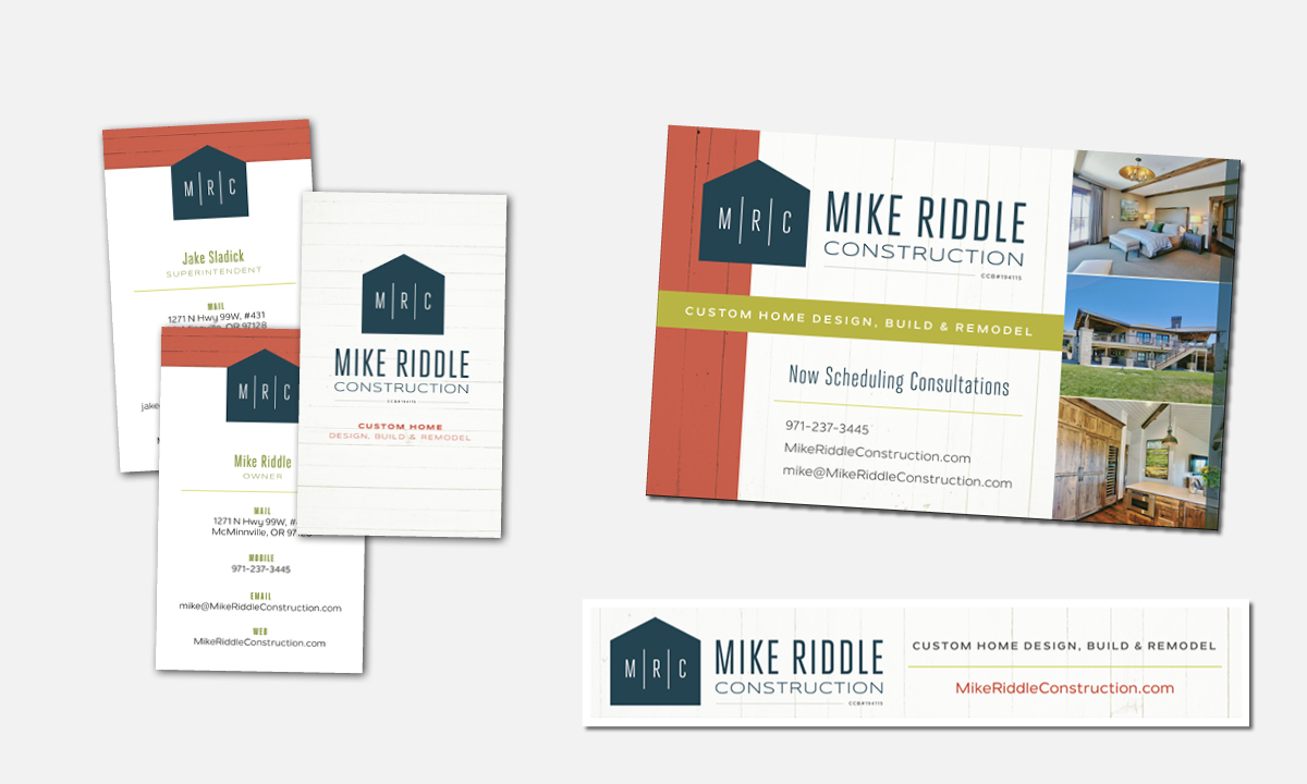 Mike Riddle Construction Marketing Materials by 237 Marketing + Web