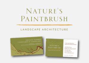 Nature's Paintbrush Landscape Architecture Logo and Business Card by 237 Marketing + Web