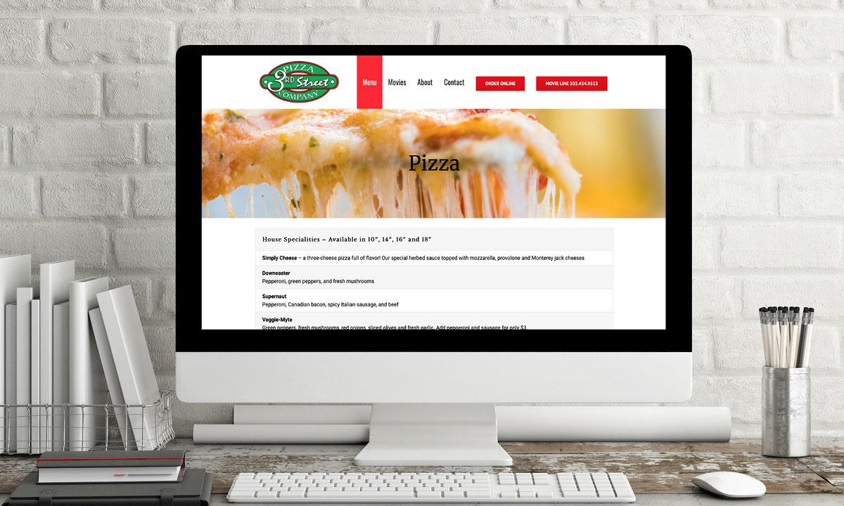 3rd Street Pizza Wordpress Website by 237 Marketing + Web