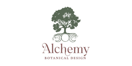 Alchemy Botanical Design logo work by 237 Marketing + Web
