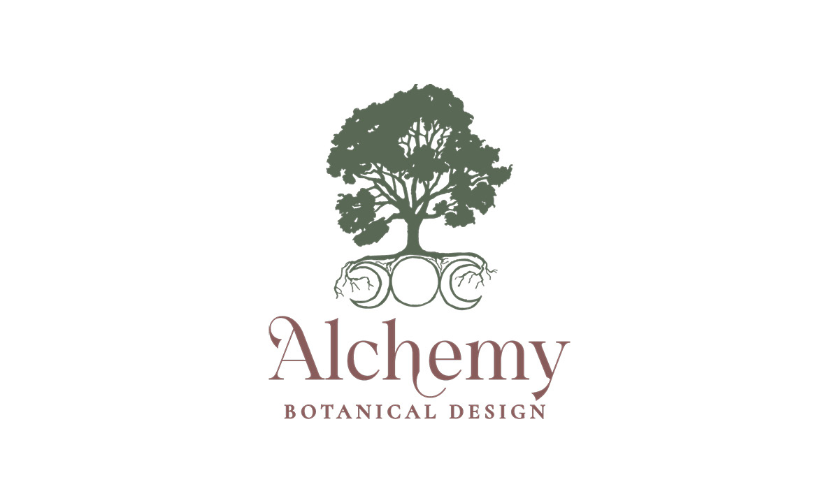 Alchemy Botanical Design logo work by 237 Marketing + Web
