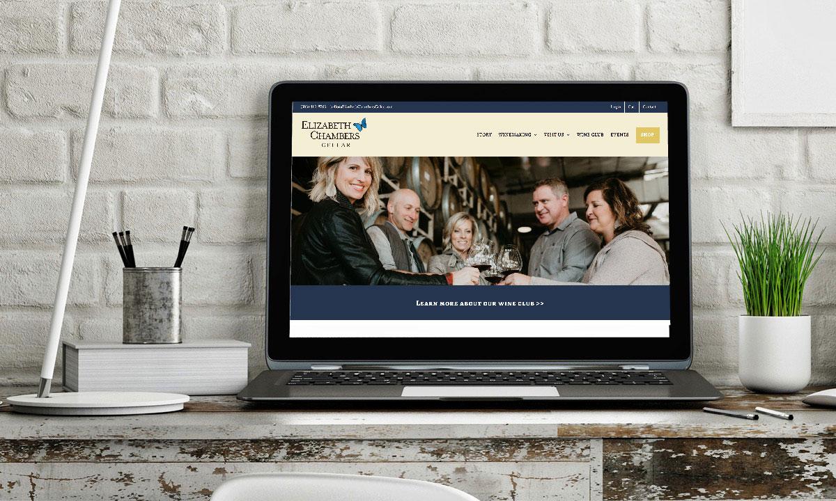 Elizabeth Chambers Cellar Wordpress Website by 237 Marketing + Web