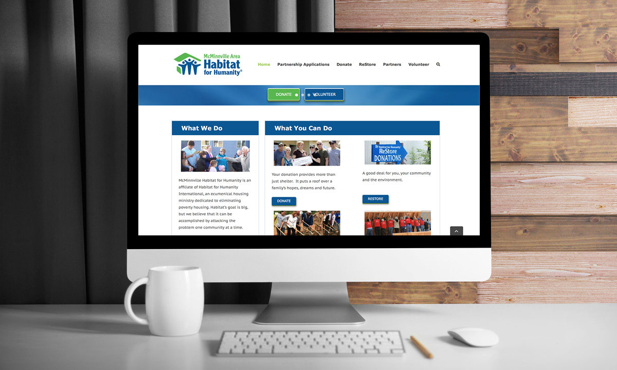 McMinnville Habitat for Humanity WordPress Website by 237 Marketing + Web