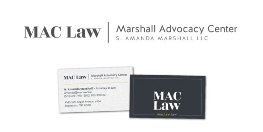 Logo and Business Cards for MAC Law by 237 Marketing + Web
